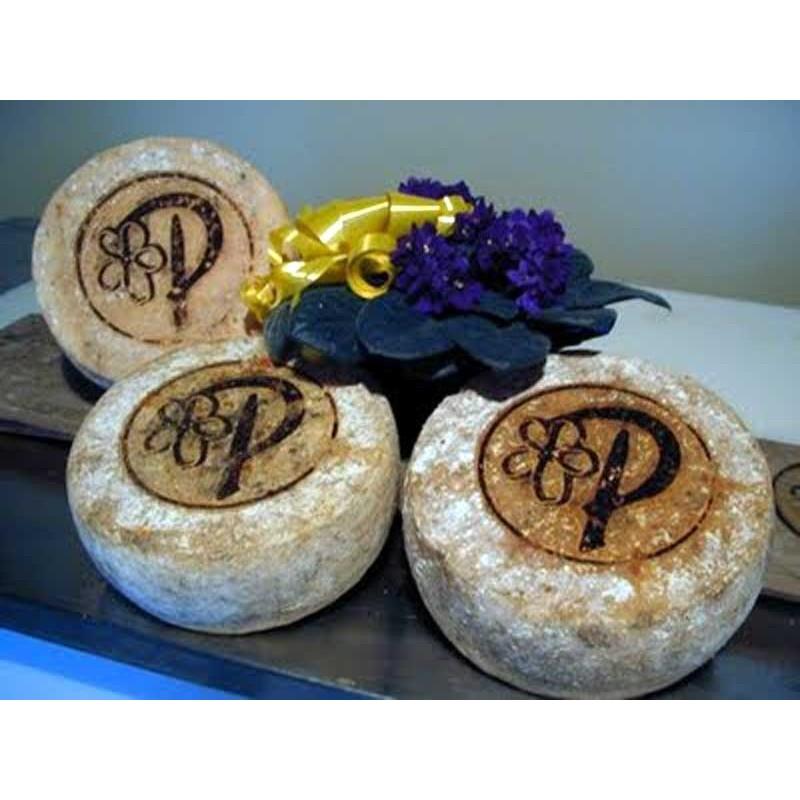 Forme di Plasentif, formaggio delle viole, prodotto in Val di Susa