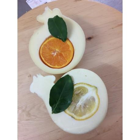 Provola delle Madonie al limone/arancia/pistacchio