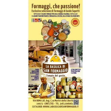 vetrina del FORMAGGIO ON LINE